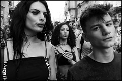 (Harmony of Difference) (Robbie McIntosh) Tags: leicam9p leica m9p rangefinder streetphotography 35mm leicam autaut candid strangers leicaelmarit28mmf28iii elmarit28mmf28iii elmarit 28mm color pride naplespride ondapride mediterraneanprideofnaples lgbt blackandwhite bw