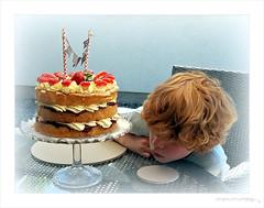 'I love you cake!' (PAUL YORKE-DUNNE) Tags: cake boy birthday yummy creamy strawberries