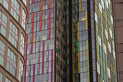 Downtown Seattle early morning with abstract close-up of buildin (Jim Corwin's PhotoStream) Tags: nw pacificnorthwest seattle seattleskyline abstract apartments architecture attractions cityscape columns courthouse design destinations downtown exterior exteriors facade garden glass glasswindows horizontal local localattractions officebuildings outdoors pattern patterns photography reflection reflections sightseeing travel twilight urbanscene urbansetting windows