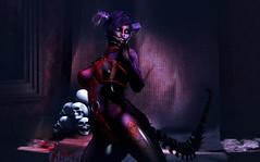 Realm of ashes (Laura Blues) Tags: secondlife sinfulneeds fantasy dark darkfantasy demon monster cerberusxing psychobarbie maitreya remarkableoblivion backdropcity