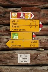 Alter Schin - Muldain (Intro) (Kecko) Tags: 2018 kecko swiss switzerland schweiz suisse svizzera graubünden graubuenden gr vaz obervaz muldain schinschlucht schynschlucht albula weg road strasse strase path trail alteschyn alterschyn alterschin wegweiser signpost europe swissphoto geotagged geo:lat=46692520 geo:lon=9524420