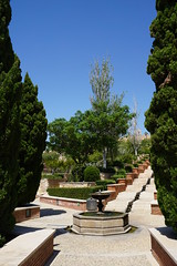 Alcazaba garden and walls, Almeria, Spain (mattk1979) Tags: almeria sun outdoors city buildings spain europe old historic arab moorish alcazaba fortress sky clouds garden walls castle