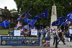 Img634686nxi_conv (veryamateurish) Tags: london westminster parliament housesofparliament abingdonstreet demonstration protest eu europeanunion brexit flags