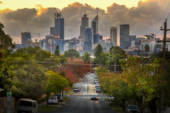 This is my City (GLN IMAGES) Tags: perth australia street clouds sky sunset