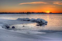 Iced Sunset (Luca Enrico Photography) Tags: sweden svezia arjeplog tramonto inverno sunset winter ghiaccio neve snow ice paesaggio landscape d750 nikon