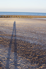(Girl With Butterfly Wings) Tags: seascape beach littlehampton shadow selfie selfportrait evening sunset sea sussex coast happiness