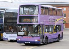 BUS0877 7166 PN03UMC Norse Norwich Bus Station 31.05.2014 (31417) Tags: 7166 pn03umc norse norwich dennis trident plaxton