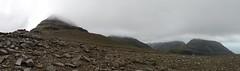 The traverse of the Rum Cuillin: climbing Hallival (Mumbles Head) Tags: scotland mountains highlands rum rhum isleofrum cuillin rumcuillin corbetts grahams landscape