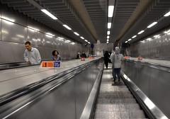 Please stand on the right (afagen) Tags: london england uk unitedkingdom greatbritain londonunderground underground tube thetube subway transit escalator