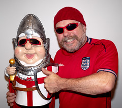 Its Coming Home. (CWhatPhotos) Tags: cwhatphotos itscominghome england world cup come football red man male sunglasses sun glasses shades smile smiles happy fun prime lens 17mm photographs photograph pics pictures pic picture image images foto fotos photography artistic that have which with contain epl8 pen olympus esystem four thirds digital camera m43 portrait