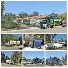 Sanitation Collage 6-28-18 (Photo Nut 2011) Tags: california garbagetruck trashtruck sanitation wastedisposal waste truck garbage junk trash refuse sandiego