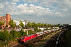 13-7-2018 - Berlin (Thaerstrasse) (berlinger) Tags: berlin deutschland thaerstrasse brücke eisenbahn railways railroad locomotive br101 nighttrain nachtzug en453 paris moscow