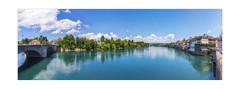 ...nichts wie r(h)ein! (rafischatz... www.rafischatz-photography.de) Tags: bridge border cloudscape suisse germany