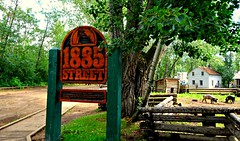 1885, the Settlement era (Trinimusic2008 -blessings) Tags: trinimusic2008 judymeikle nature alberta edmonton canada fortedmontonpark summer july 2018 family pigs signage farm houses