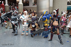 Anime Expo 2017 (GetChu) Tags: anime expo 2017 cartoon gaming cosplay cosplayer coser japanese american character los angeles convention center tv monster hunter weapon armor