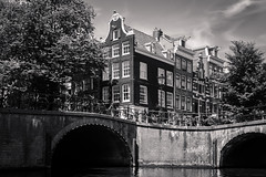 Amsterdam II (bjdewagenaar) Tags: photography photograph photographer photooftheday sony sonyalpha sonyphotographer sonyimages sonya77ii sonya minolta minoltalens primelens 28mm amsterdam city urban dutch blackandwhite blackwhite bw mono monochrome monoart buildings architecture architecturephotography trees bridge raw lightroom