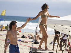 Tightrope walking at the beach (San Diego Shooter) Tags: beach girl girls sandiego pacificbeach portrait streetphotography