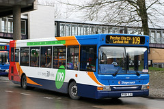 34680 PX54 EJU (Cumberland Patriot) Tags: stagecoach ribble cumberland motor services cms north west england in cumbria merseyside south lancashire preston depot transbus dennis dart slf plaxton pointer ii two 34680 px54eju beachball swoops super low floor single deck decker saloon bus omnibus buses psv public service vehicle derv diesel engine road vehicles transport transit 109