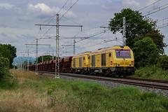 Deux BB75000 sur un train reliant Mâcon Ville à SGO. (AziroxY) Tags: trains trainspotting train photo plm photographie photosncf prima impérial bb75000 infra quincieux