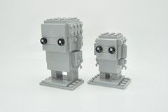 LEGO Monochrome BrickHeadz in Light Bluish Gray (Pasq67) Tags: lego monochrome afol toy toys flickr legography pasq67 brickheadz lightbluishgray france 2018 mini light bluish gray mediumstonegrey