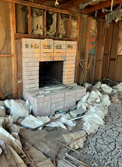 Dad Moved On (cowyeow) Tags: salton art abandoned saltonsea old desert california usa america bombaybeach beach weird odd trippy strange graffiti shack building decay wall design creepy house sad forgotten dad father fatherless fireplace destroyed lonely