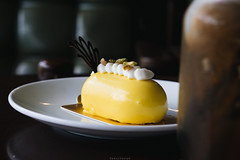 Anyone wants to enjoy this cute chubby yellow caterpillar mango mousse cake? (iSam's) Tags: anyone wants enjoy this cute chubby yellow caterpillar mango mousse cake cakes desserts cream whipped whipping pistachio samscheetah isam2018 2018 isam 1985 sai gon ho chi minh city viet nam