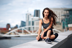 Training day (socreative) Tags: fit fitness london urban city fashion stylish sporty sport athlete yoga summer portrait long hair