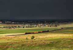 Monsoon Season (Wheelnrail) Tags: colorado bnsf burlington northern santa fe train trains ge b408w railraod rail road rails lafayette branch longmont boulder co buck local