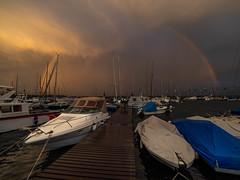 Morges (hirschmann.photography) Tags: morges léman lakegeneva rainbow rain vaud switzerland