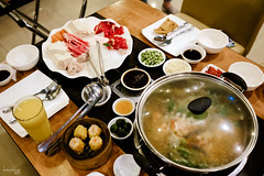Really cooking (Daniel Y. Go) Tags: fuji fujix100f x100f philippines rainyday hotpot food chinesefood shabushabu