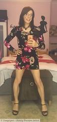 June 2018 - floral print bodycon dress (Girly Emily) Tags: crossdresser cd tv tvchix tranny trans transvestite transsexual tgirl tgirls convincing feminine girly cute pretty sexy transgender boytogirl mtf maletofemale xdresser gurl glasses dress tights hose hosiery indoor stilettos highheels