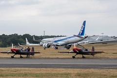 MRJ (d0mokun) Tags: airplane aeroplanes airplanes aircraft farnborough england unitedkingdom gb mitsubishi regional jet mrj ana