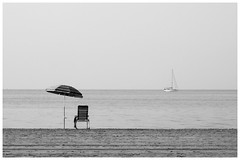 The Letfovers II (una cierta mirada) Tags: mediterranean mediterráneo santapola beach sea seascape boat lonely lines bnw blackandwhite outdoors nature