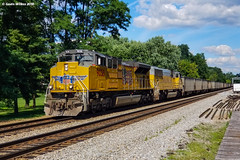 Beauty Before Age (nrvtrains) Tags: christiansburg unionpacific christiansburgdistrict norfolksouthern freightdock empty coal cambria virginia unitedstates us