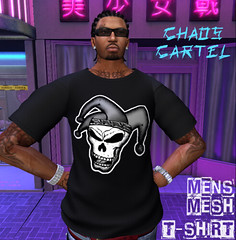JESTER T-Shirt (XioJester3D) Tags: jester joker black original mesh mens gothic