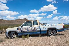 "Abandoned Trucfk at Terlingua Ranch- ""Terlingua Land Sales"""