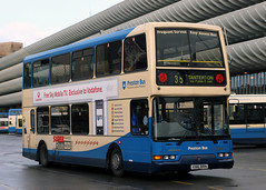 186 X186 RRN (Cumberland Patriot) Tags: preston borough transport transportation corporation ltd dennis trident h4530f 186 x186rrn east lancs lolyne coach builders limited lancashire super low floor double deck decker bus buses 35