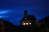castle on the hill (Wolfgang Binder) Tags: castle hill night light sky austria wachau schoenbuehel nikon d7000 zeiss planar planart2100