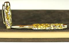 Yellow Tiffany Rollerball Pen (BenjaminCookDesigns) Tags: fountainpen custom bespoke engraved personalised classic vintage artdeco style gift birthday christmas fpgeeks fpn giftforhim giftforher füllfederhalter