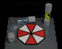 T-Virus (gonkius) Tags: lego moc umbrella resident evil tvirus logo container uv movie alice hive