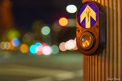 Push the button (edzwa) Tags: nightshot nightphotography sigma50mm14art bokeh bokehlicious street button