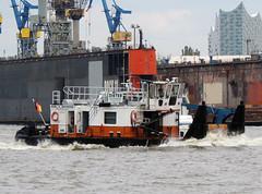 Dieter (ENI 02326555) (Parchimer) Tags: schubboot pushboat towboat pousseur pchacz duwboot spintore empurradorfluvial binnenschiff tolómotorhajó pushertug hamburg hafen elbe