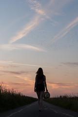 (CarolienCadoni..) Tags: sony sonyilcaa99m2 sundown sun sunset silhouette light hat backshot clouds lofar buinen drenthe birds starlings