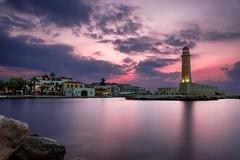 Rethymno lighthouse (Giacomo Ferroni) Tags: greece lighthouse sunset long exposure sea harbour rethymno crete warm travel summer canon colorful colors amazing