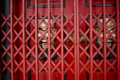 Red shutters (Thanathip Moolvong) Tags: red door shutter mask gate iron emeraldhill