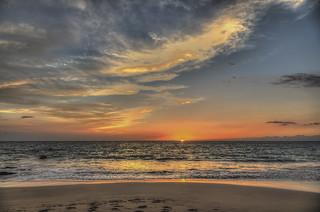 Sunset at Kaunaʻoa (Mauna Kea) Beach Hawaii