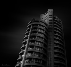 MARAN (LUSEJA) Tags: luseja parana argentina entrerios bn black white suites city longexposure ndfilter night gray tower rest holidays resort darksky nightsky blurclouds clouds blackwhite blackandwhite floors glass metal recess obscure dusky shadowy shadow chdk canon