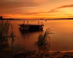 Sunset (vaibhav.pandeys) Tags: canada alberta water reflection nikon longexposure dusk sunset nature lake