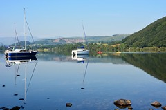 Perfect canoeing morning (moniquerebanks) Tags: canoeing sailboats lakedistrict cumbria uk worldheritage peaceful reflections hills calm meer see lake ullswater nikond7100 nature dawn morning serenity scenery view landschap landscape roeiboten