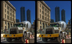 Toronto construction site 3-D / CrossView / Stereoscopy / HDRaw (Stereotron) Tags: toronto to tdot hogtown thequeencity thebigsmoke torontonian downtown financialdistrict construction site north america canada province ontario cross eye view xview crosseye pair free sidebyside sbs kreuzblick bildpaar 3d photo image stereo spatial stereophoto stereophotography stereoscopic stereoscopy stereotron threedimensional stereoview stereophotomaker photography picture raumbild twin canon eos 550d remote control synchron kitlens 1855mm 100v10f tonemapping hdr hdri raw